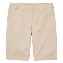 IZOD® Stretch Twill Regular Fit Bermuda Shorts