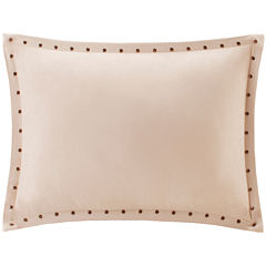 Madison Park Reiss Stud Trim Microsuede Oblong Feather Pillow