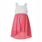 Pinky Lace High-Low Dress - Toddler Girls 2t-4t