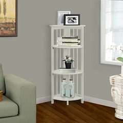 Folding 4-Shelf Corner Bookcase