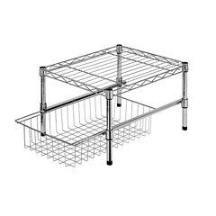 Honey-Can-Do® Adjustable Shelf + Under Cabinet Organizer