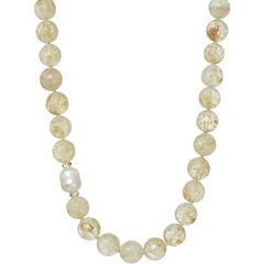ROX by Alexa Rutilated Quartz Beaded Necklace