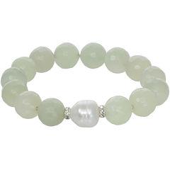 ROX by Alexa Genuine Green Jade Stretch Bracelet