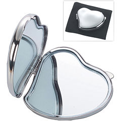 Natico Heart-Shaped Silver Polished Mirror