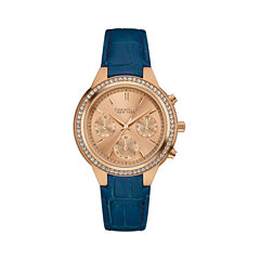 Caravelle New York Womens Blue Strap Watch-44l183
