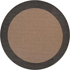 Couristan® Checkered Field Indoor/Outdoor Round Rug
