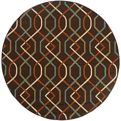 Covington Home Montego Swizzle Indoor/Outdoor Round Rug
