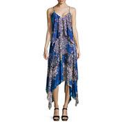 a.n.a® Sleeveless Handkerchief-Hem Maxi Dress-Petite