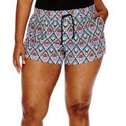 Arizona Drawstring Shorts - Juniors Plus