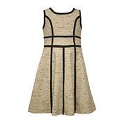 Bonnie Jean® Sleeveless Scuba Dress - Preschool Girls 4-6x