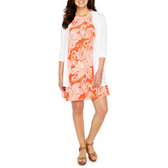 Ronni Nicole Elbow Sleeve Cardigan or Studio 1 Sleeveless Shift Dress