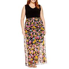 Weslee Rose Sleeveless Maxi Dress-Plus