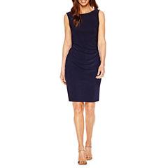 Blu Sage Sleeveless Embellished Sheath Dress-Petites