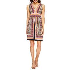 Perceptions Sleeveless A-Line Dress-Petites