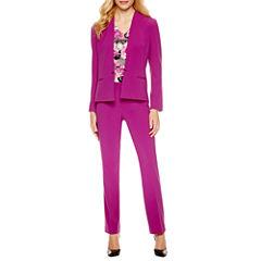 Chelsea Rose Long Sleeve Jacket or Sleevless Floral Print Blouse or Slim Fit Pant