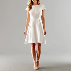 Alex Evenings Short Sleeve Fit & Flare Dress