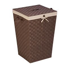 Honey-Can-Do® Woven Strap Hamper with Liner and Lid