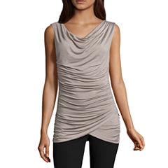 Worthington Sleeveless Cowl Neck T-Shirt