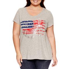 St. John's Bay Short Sleeve Liberty T-Shirts - Plus