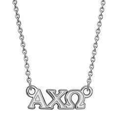 Personalized Sterling Silver Small Sorority Necklace