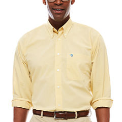Biscayne Bay Long-Sleeve Mini-Check Button-Down Shirt