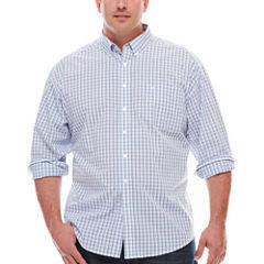 Dockers® Long-Sleeve Small Windowpane Woven Shirt - Big & Tall