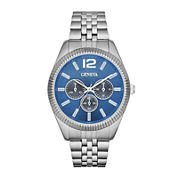 Mens Coin-Edge Multifunction-Look Watch