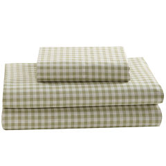 Mary Jane's Home 250tc Gingham Print Sheet Set