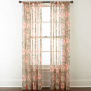 Home Expressions™ Sterling Rod-Pocket Sheer Curtain Panel