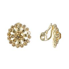 Monet Jewelry Brown Clip On Earrings
