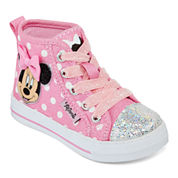 Disney® Minnie Mouse Girls Hi-Top Sneakers - Toddler