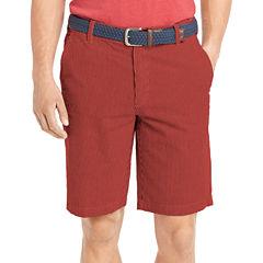 IZOD Seersucker Flat-Front Shorts