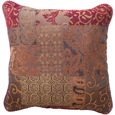Charming Croscill Classics® Catalina Red Square Decorative Pillow