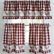 Park B. Smith Provencial Rooster Rod-Pocket Kitchen Curtains