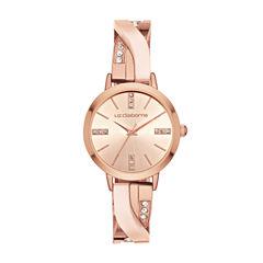 Liz Claiborne Womens Rose Goldtone Bracelet Watch-Lc1345