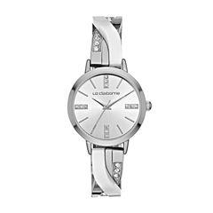 Liz Claiborne Womens Silver Tone Bracelet Watch-Lc1346