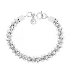 Gloria Vanderbilt Womens White Beaded Bracelet