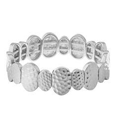 Gloria Vanderbilt Womens Gray Stretch Bracelet