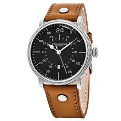 Stuhrling Mens Brown Strap Watch-Sp16313