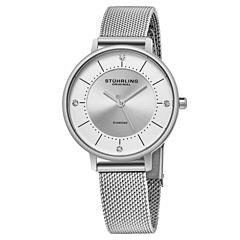 Stuhrling Womens Silver Tone Strap Watch-Sp16309