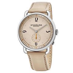 Stuhrling Mens Brown Strap Watch-Sp16390
