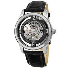 Stuhrling Mens Black Strap Watch-Sp15351
