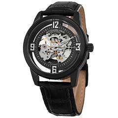 Stuhrling Mens Black Strap Watch-Sp15355