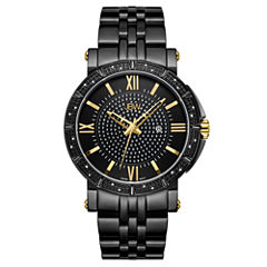 JBW Vault Black Ion-Plated Stainless Steel 0.24 C.T.W Diamond Accent Mens Black Bracelet Watch-J6343e