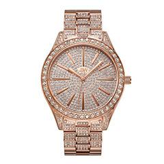 JBW Cristal 18k Rose Gold-Plated Stainless Steel 0.12 C.T.W Diamond Accent Womens Rose Goldtone Bracelet Watch-J6346b