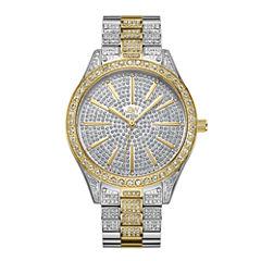 JBW Cristal Stainless Steel 0.12 C.T.W Diamond Accent Womens Two Tone Bracelet Watch-J6346d