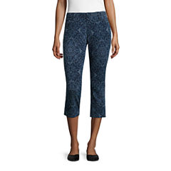 Mixit Stretch Denim Printed Leggings