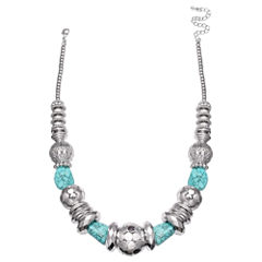 Mixit Clr 0717 Lt Blue Beaded Necklace