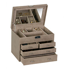Mele & Co. Jewelry Box in Sand Faux Leather