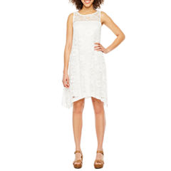 Robbie Bee Sleeveless Lace Swing Dresses